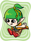 Cute green elf boy Stock Images