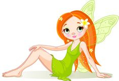 Cute green fairy Royalty Free Stock Images