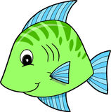 Cute Green Fish. Vector Illustration Royalty Free Stock Photo
