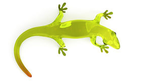 Cute Green Glass Gecko Royalty Free Stock Image