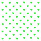 Cute green hearts abstract background. Geometric texture heart shapes. For pattern, greeting card, t shirt print, graphic designer stock illustration