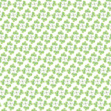 Cute Green leaf pattern on white background stock illustration