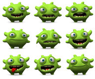 Cute green monster Stock Photos