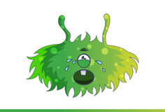 Cute green monster Crying. Stock Images
