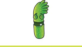 Cute green monster Happy. Royalty Free Stock Image