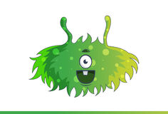 Cute green monster Happy. Royalty Free Stock Photos