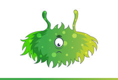 Cute green monster Sad. Stock Images