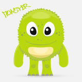Cute green monster Royalty Free Stock Photo
