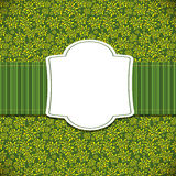 Cute Green Natural Frame Vector Illustration Stock Photo