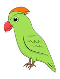 Cute green parrot Stock Photography