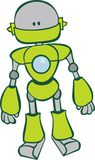 Cute green robot vector illustration