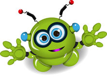 Cute green robot Royalty Free Stock Images