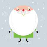 Cute green Santa with red nose Stock Image