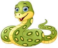 Cute green snake cartoon Royalty Free Stock Photo