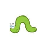 Cute green worm Stock Photo