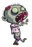 Cute green zombie cartoon Royalty Free Stock Photo