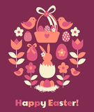 Easter Greeting Card Design Royalty Free Stock Photography