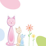 Cute Greeting Card -EPS Vector- Stock Photo