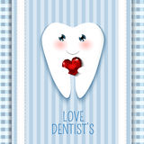 Cute greeting card Happy Dentist Day Stock Image