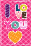 Cute greeting card for Happy Valentine S Day Royalty Free Stock Photo