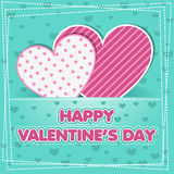 Cute greeting card for Happy Valentine S Day Stock Images