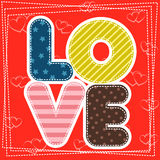 Cute greeting card for Happy Valentine S Day Stock Photos