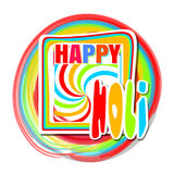 Cute greeting card holi festival celebration. Happy Holi. Beautiful colorful background Stock Image
