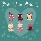 Cute greeting card Royalty Free Stock Images