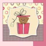 Cute greeting card with teddy bear Stock Photo