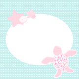 Cute greeting card with turtle Royalty Free Stock Photo