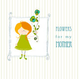 Cute greeting design Royalty Free Stock Photography