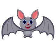 Cute grey bat cartoon royalty free illustration
