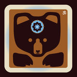 Cute grey bear  icon Royalty Free Stock Images