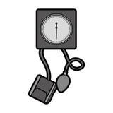 Cute grey blood plessure apparatus cartoon Royalty Free Stock Photo