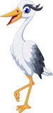 Cute grey heron cartoon. Illustration of cute grey heron cartoon Royalty Free Stock Image