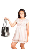Cute gril hold bag shopping Stock Image