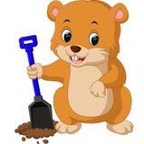 Cute groundhog cartoon Stock Photos