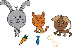 Cute group animals vector illustration Royalty Free Stock Image