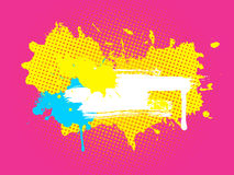Cute grunge multicolored banner Stock Photo