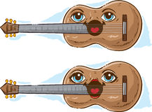 Cute Guitar Royalty Free Stock Photography