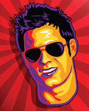 Cute Guy Face in Pop Art Style Royalty Free Stock Image