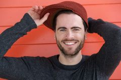Cute guy with hat Stock Photo