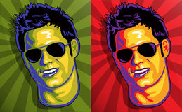 Cute Guy in Pop Art Style Royalty Free Stock Image