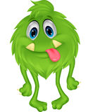 Cute hairy green monster Stock Photography