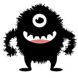 Cute Hairy Monster. A cute hairy monster with sharp teeth royalty free illustration