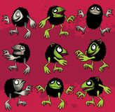 Cute hairy monster imp toy cartoon Stock Photo