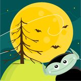 Cute Halloween background. Illustration Royalty Free Stock Images