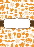 Cute Halloween background Stock Photography