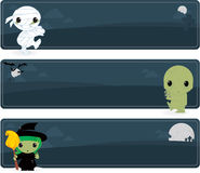Cute Halloween banners Royalty Free Stock Image