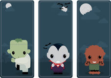 Cute Halloween banners Stock Image